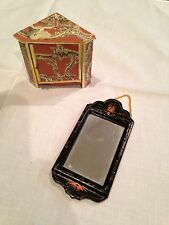 "DOLL HOUSE MINIATURES ""ORNATE CABINET AND MIRROR"