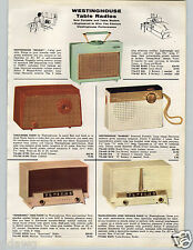 1957 PAPER AD Radio Table Portable General Electric Westinghouse Sonoramic