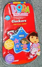 NEW Sealed DORA The EXPLORER Mini CLOCK Magnet CLOCKERS with Clip