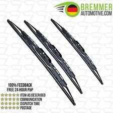 Mazda 626 Coupe (1987 to 1992) Wiper Blade Complete Set X3 Front Rear