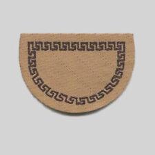 Teppich Fußmatte für den Eingangsbereich an der Tür beige Puppenstube 1:12