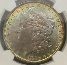 1886 Morgan Dollar NGC MS 64 Toned Toner Ex Northern Nevada Coin