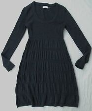 ***CALVIN KLEIN LONG SLEEVE SWEATER DRESS IN DARK GRAY SIZE X-SMALL XS***