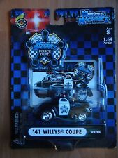 Muscle Machines Police Department '41 1941 Willys Coupe Jeep 1.64 MOC Black 2004