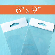"""6x9 inch Resealable Cellophane OPP Poly Sleeves 200 Clear Cello Bags 6/"""" x 9/"""""""