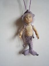 Annette Himstedt porcelain miniature Mermaid doll, lilac. Mint. Fabulous!