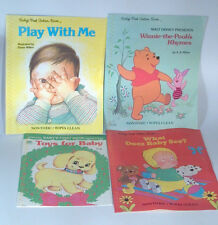 Lot Of 4 Vintage Baby's First Books Wipe Clean Play With Me Eloise Wilkin Pooh