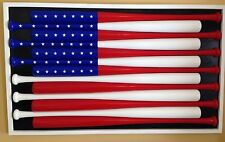 "Custom baseball bat American flag 34"" Bats Full Frame"