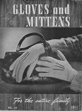 Bear Brand 19 Gloves Mittens Knitting Crochet Patterns Norwegian Family 1944