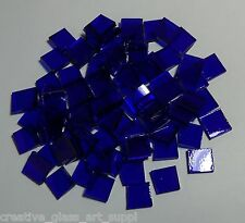 50 - 1/2 inch Dark Blue Cathedral Stained Glass Mosaic Tiles - Spectrum