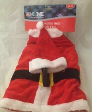 Pet Santa Suit With Hat Red White Large Size 16 Inches