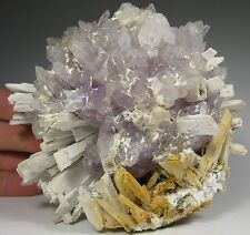 Ball of AMETHYST crystals with Anhydrite pseudos * Rio Grande du Sol * Brazil