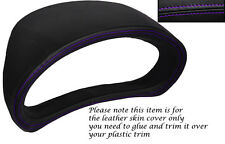 PURPLE STITCH GAUGE HOOD SPEEDO LEATHER COVER FITS SUBARU IMPREZA WRX STI 08-13