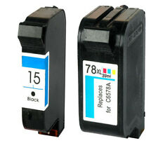 Non-OEM Replaces For HP 15 & 78 deskjet 940c Ink Cartridges