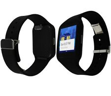 Skinomi Carbon Fiber Black Watch Skin+Screen Protector for Sony Smartwatch 3