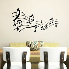 Music Note Art Vinyl Wall Sticker Quote Home Decals Wall decor Wallpaper