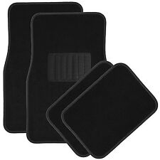4pc Black Deluxe Carpet Floor Mats Front & Rear Universal New Free Shipping USA