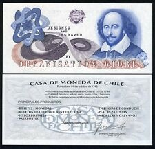 Chile, GIORI, Test / Advertising note, Shakespeare