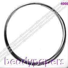 40 bobine 0.6 mm en acier inoxydable collier mémoire fil 11.5 cm noir nf 4066
