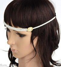 Headband, Bijou cheveux , Mode serre tête, bandeau perle, blanc bijoux fantaisie