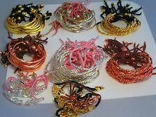 Job Lot Friendship Bracelets Twisted / Straight Rose Silver Gold Plated Car Boot