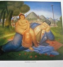 Fernando Botero Poster Loving Couple 1979 14x11 Offset Lithograph Unsigned