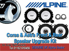 Vauxhall Astra H Corsa C D Front & Rear 3 5 Door Alpine Speaker Upgrade Kit 480W