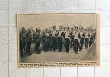 1923 Aldershot To Crimean War Soldiers March Past Gas Masks Steel Helmets