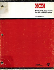 CASE 26 26B  BACKHOE (see picture for Tractor Models)   PARTS  MANUAL  E1124