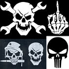Skull Skeleton Bone Truck Car Window Wall Bumper Vinyl Decal Sticker Halloween