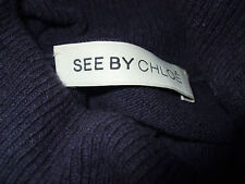 See by Chloe Designer suéter oscuro lilas lana cachemira talla 38 nuevo