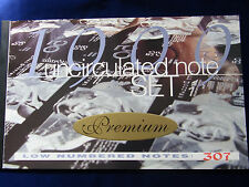 1999 Dated Annual Set  $5,10,20,50,100 in Premium - RED numbers NPA Folder.. 307