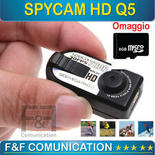 MINI VIDEOCAMERA DIGITALE HD SPY TELECAMERA SPORT SOFTAIR AUTO MOTO CASCO SPIA