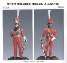METAL MODELES OFLRGI MM80 - OFFICIER DES LANCIERS ROUGE DE LA GARDE 1813 - 54mm