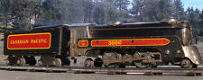 MARX TRAINS O-Scale: Pre-War Canadian Pacific 3000 2-4-2 Locomotive & Tender  NR
