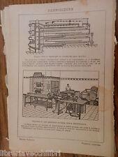 antica stampa da incorniciare PANIFICAZIONE DOPPIO FORNO VAPORE PANETTERIA DI