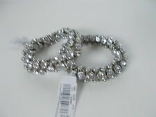 American Eagle Outfitters Silver Crystal Nugget Stretch bracelet $15.50 Lot 4