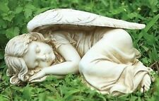 Sleeping Angel Girl Outdoor Garden Statue