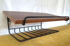 50er Jahre Teak Holz_String Telefon Tisch Wandkonsole