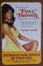 "40x60"" HUGE MOVIE SUBWAY POSTER~Foxy Brown 1974 Pam Grier Authentic Soul Cinema~"