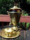 ANTIQUE Russian SAMOVAR ,COFFEE TEA URN , tray and bowl
