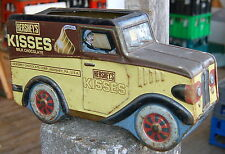 "lovely old tinplate Hershey's ""KISSES"" sweet tin ( van shape )"