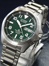 CITIZEN PROMASTER LAND Eco-Drive Titanium Watch PMD56-2951 20Bar From JAPAN NEW