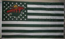 Minnesota Wild NHL USA Stars & Stripes 3x5 Flag Banner - USA Seller Shipper
