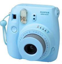 Fujifilm Instax Mini 8 Camera Blue Instant Photo Polaroid Film Picture