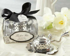 Tea For Two Teapot Tea Infuser Bridal Shower Wedding Tea Party Favors