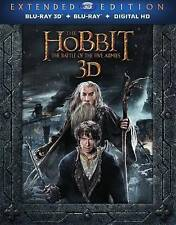 THE HOBBIT BATTLE OF THE FIVE ARMIES New Blu-ray 3D + Blu-ray Extended Edition