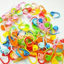 50X Stitch Holder Plastic Locking Marker for Wool Knitting Crochet Needle Clip K