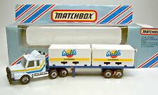 "Matchbox Convoy CY18A Scania Double Container Truck ""Walls Ice Cream"" top in Box"