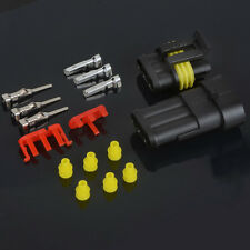 10sets-3 Pin Waterproof Electrical Wire Connector Plug  Automotive Marine